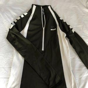 VS pink workout zip